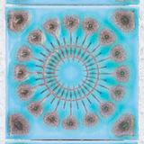 Φωτεινά μπλε διακοσμητικά κεραμίδια Στοκ Εικόνες