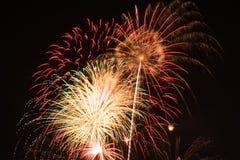 φωτεινά πυροτεχνήματα Στοκ φωτογραφίες με δικαίωμα ελεύθερης χρήσης