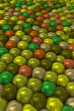 Φωτεινά σφιχτά μαργαριτάρια στην προοπτική Στοκ Εικόνες