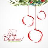 Φωτεινά Χριστούγεννα σφαιρών κύκλων Πώληση Στοκ φωτογραφία με δικαίωμα ελεύθερης χρήσης