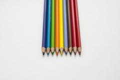 Φωτεινά χρωματισμένα μολύβια Στοκ Φωτογραφία