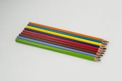 Φωτεινά χρωματισμένα μολύβια Στοκ εικόνες με δικαίωμα ελεύθερης χρήσης