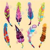 Φωτεινά χρωματισμένα φτερά Στοκ Εικόνες