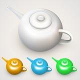 Φωτεινά χρωματισμένα teapots Στοκ Εικόνες
