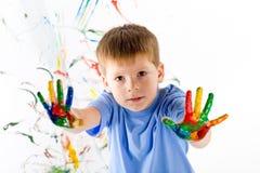 φωτεινά χρώματα αγοριών λίγ& Στοκ φωτογραφία με δικαίωμα ελεύθερης χρήσης