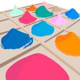 Φωτεινά χρώματα πώλησης Holi Στοκ φωτογραφία με δικαίωμα ελεύθερης χρήσης