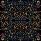 Φωτεινά χρώματα Bandana Διανυσματικό τετράγωνο τυπωμένων υλών Στοκ φωτογραφία με δικαίωμα ελεύθερης χρήσης