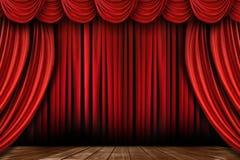 φωτεινά drapes πολλά κόκκινο στ Στοκ Εικόνες