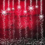 Φωτεινά Snowflakes Στοκ Εικόνες
