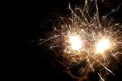 Φωτεινά sparklers Στοκ εικόνα με δικαίωμα ελεύθερης χρήσης