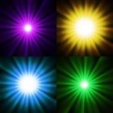 Φωτεινές ελαφριές ανασκοπήσεις αστεριών Στοκ εικόνες με δικαίωμα ελεύθερης χρήσης