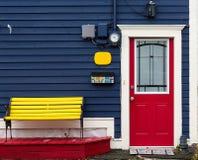 Φωτεινές και χαρωπές πόρτες της νέας γης στοκ εικόνες
