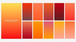 Φωτεινές πορτοκαλιές κλίσεις χρώματος φθινοπώρου καθορισμένες ελεύθερη απεικόνιση δικαιώματος