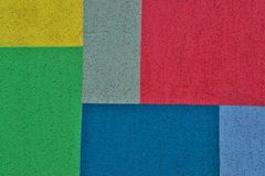 Φωτεινές χρωματισμένες γεωμετρικές μορφές για τη σύσταση ή το υπόβαθρο στοκ εικόνες