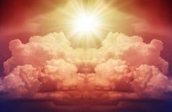 Φωτεινή λάμψη του κόκκινου αστεριού στοκ εικόνα με δικαίωμα ελεύθερης χρήσης
