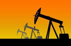 Φωτεινή απεικόνιση φορτωτήρων πετρελαίου Στοκ Εικόνες