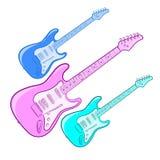 Φωτεινή ηλεκτρική κιθάρα Στοκ Εικόνες
