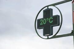Φωτεινή θερμοκρασία επίδειξης Στοκ εικόνες με δικαίωμα ελεύθερης χρήσης
