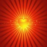 φωτεινή καμμένος καρδιά αν&a Στοκ Φωτογραφίες