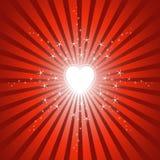 φωτεινή καμμένος καρδιά αν&a Στοκ Εικόνες