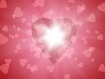 φωτεινή καρδιά Στοκ Εικόνες