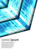 Φωτεινή μπλε αφηρημένη επιχείρηση βελών απεικόνιση αποθεμάτων