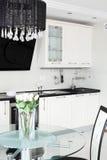 Φωτεινή ολοκαίνουργια ευρωπαϊκή κουζίνα Στοκ φωτογραφίες με δικαίωμα ελεύθερης χρήσης