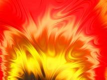 Φωτεινή πορτοκαλιά fractal φλογών τέχνη Στοκ Εικόνα