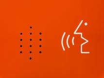 Φωτεινή πορτοκαλιά αφηρημένη συσκευή συμβάσεων έκτακτης ανάγκης ομιλητών διαγραμμάτων Στοκ Εικόνα