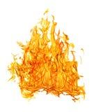 Φωτεινή πορτοκαλιά πυκνή πυρκαγιά στο άσπρο υπόβαθρο στοκ φωτογραφίες