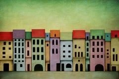 Φωτεινή πόλη διανυσματική απεικόνιση