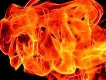 Φωτεινή φλόγα πυρκαγιάς σε ένα μαύρο υπόβαθρο στο χρώμα νέου ελεύθερη απεικόνιση δικαιώματος