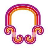 Φωτεινή χρωματισμένη αψίδα Στοκ Εικόνα
