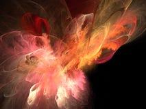 φωτεινή χρωματισμένη φλόγα Στοκ Εικόνες
