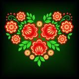 φωτεινή floral καρδιά ελεύθερη απεικόνιση δικαιώματος
