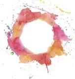 Φωτεινοί παφλασμοί watercolor Στοκ φωτογραφία με δικαίωμα ελεύθερης χρήσης