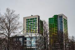 Φωτεινοί πύργοι στοκ εικόνα με δικαίωμα ελεύθερης χρήσης