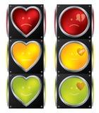 Φωτεινοί σηματοδότες αγάπης Στοκ φωτογραφία με δικαίωμα ελεύθερης χρήσης