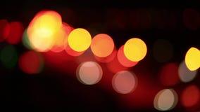 Φωτεινοί σηματοδότες νύχτας απόθεμα βίντεο