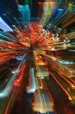 Φωτεινοί σηματοδότες στη θαμπάδα κινήσεων Στοκ εικόνα με δικαίωμα ελεύθερης χρήσης