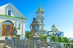 Φωτεινοί σηματοδότες Pochaev Lavra Στοκ εικόνες με δικαίωμα ελεύθερης χρήσης