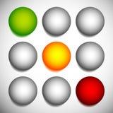 Φωτεινοί σηματοδότες, λαμπτήρες κυκλοφορίας, σηματοφόρος που απομονώνεται στη σειρά επάνω απεικόνιση αποθεμάτων