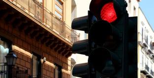 Φωτεινοί σηματοδότες, κόκκινοι Στοκ Εικόνα
