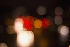 Φωτεινοί σηματοδότες οδών Bokeh Στοκ Εικόνα