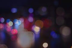 Φωτεινοί σηματοδότες οδών Bokeh Στοκ Φωτογραφίες