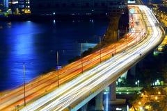 Φωτεινοί σηματοδότες στη θαμπάδα κινήσεων Στοκ φωτογραφίες με δικαίωμα ελεύθερης χρήσης