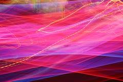 Φωτεινοί σηματοδότες στη θαμπάδα κινήσεων. Στοκ Εικόνες