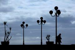 Φωτεινοί σηματοδότες στο backlight Στοκ εικόνα με δικαίωμα ελεύθερης χρήσης