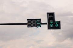 Φωτεινοί σηματοδότες το πράσινο φως Στοκ εικόνα με δικαίωμα ελεύθερης χρήσης