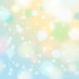Φωτεινός λάμψτε υπόβαθρο με το bokeh και snowflakes, διάνυσμα ελεύθερη απεικόνιση δικαιώματος